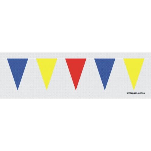 Blau / Gelb / Rote Wimpelkette Flagge Wimpelketten 30 X 20