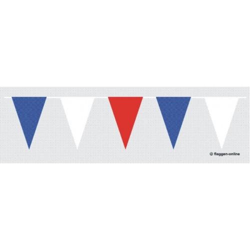 Blau / Weiß / Rote Wimpelkette Flagge Wimpelketten 30 X 20