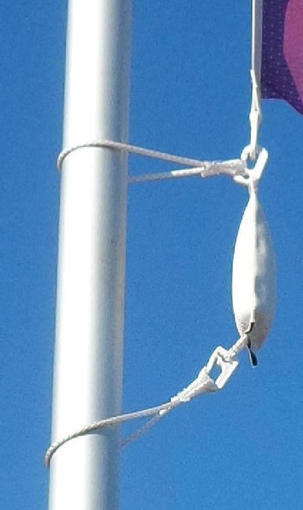 """Flaggengewicht """"Mega-Extrem"""" ca. 750 Gramm, Kletterstoppgewicht  für Masten bis 60 mm Durchmesser"""