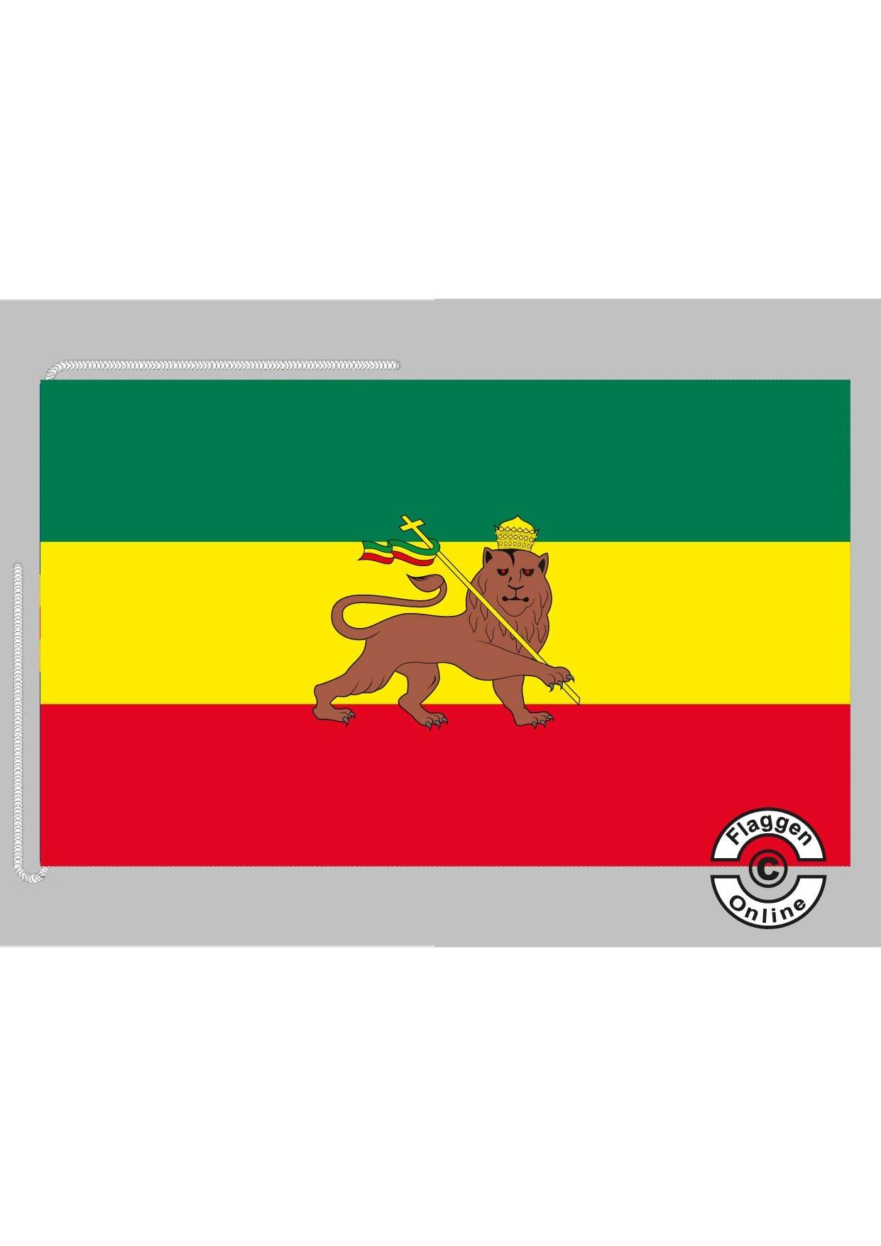Äthiopien Imperial Tischflagge