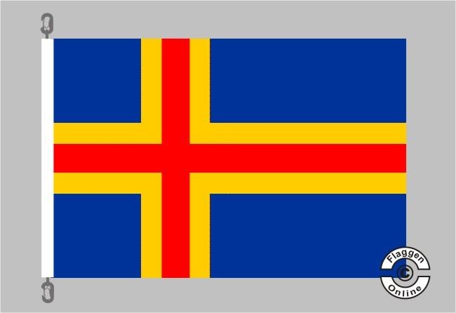 Aaland Flagge