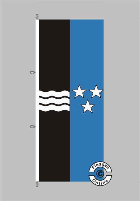 Aargau Flagge Hochformat