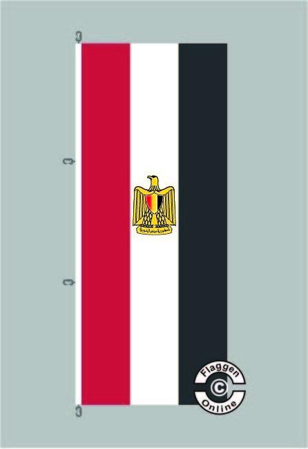 Ägypten Aegypten Hochformat Flagge / Fahne für extreme Windlasten