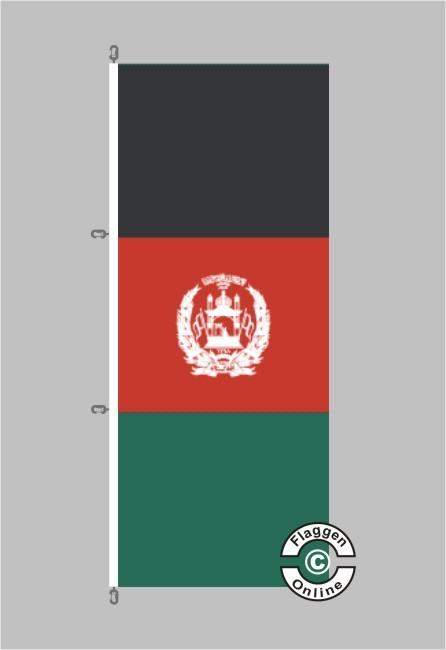 Afghanistan Hochformat Flagge / Fahne für extreme Windlasten