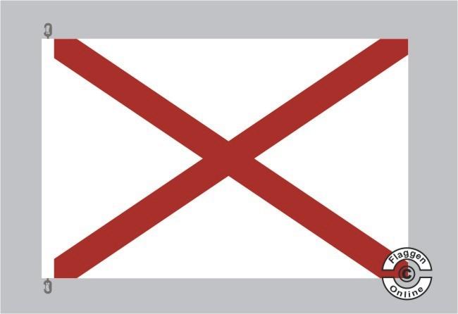 Alabama Flagge Fahne