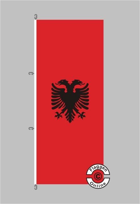 Albanien Hochformat Flagge / Fahne für extreme Windlasten