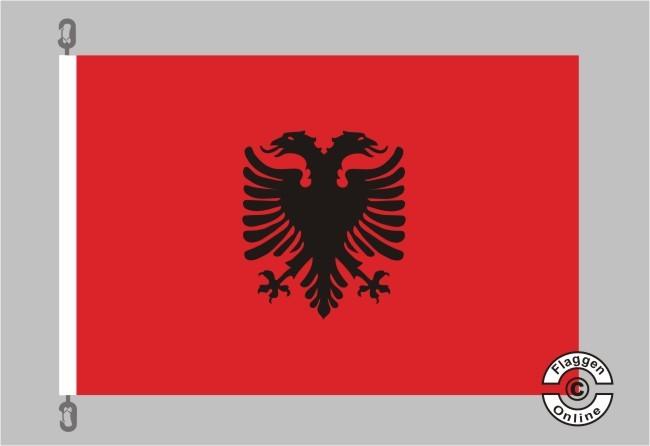 Albanien Flagge / Fahne für extreme Windlasten