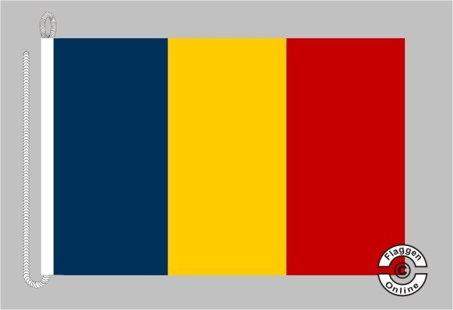 Andorra ohne Wappen Bootsflagge