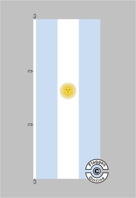 Argentinien Hochformat Flagge