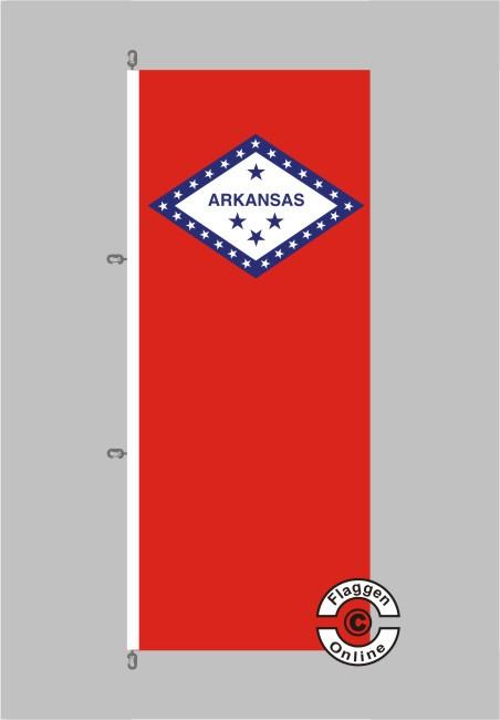 Arkansas Flagge Hochformat