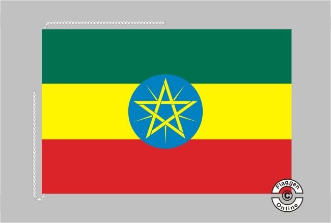 Äthiopien Tischflagge