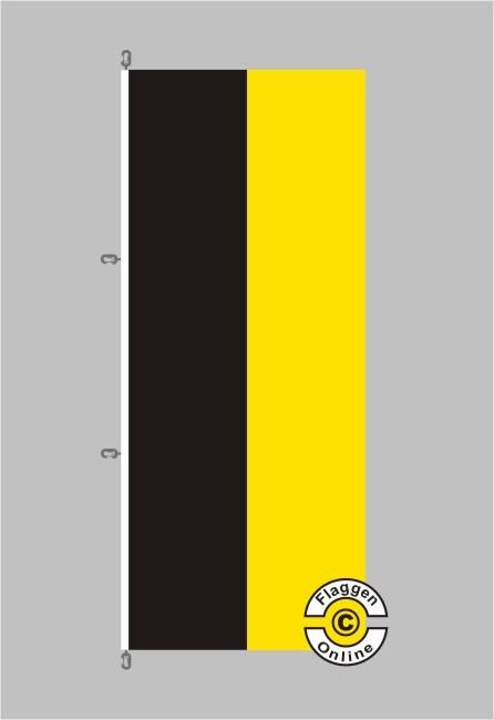 Baden-Württemberg Hochformat Flagge / Fahne für extreme Windlasten