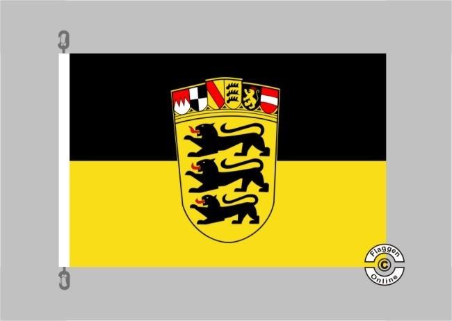 Baden-Württemberg großes Landeswappen Flagge / Fahne für extreme Windlasten