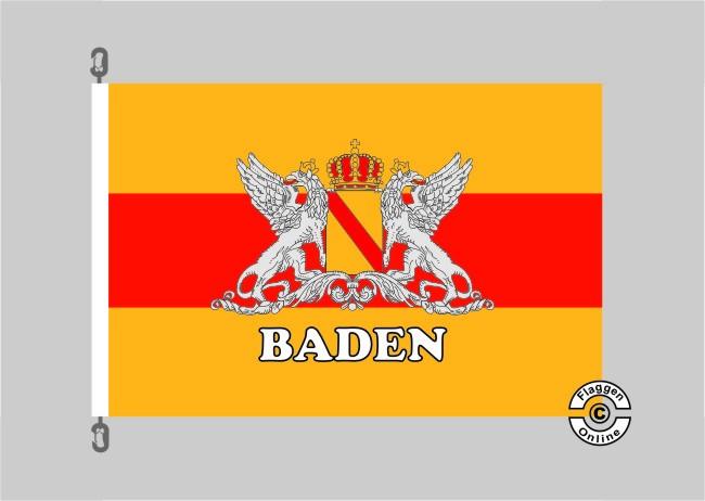 Baden Großherzogtum (Schriftzug Baden) Flagge / Fahne für extreme Windlasten