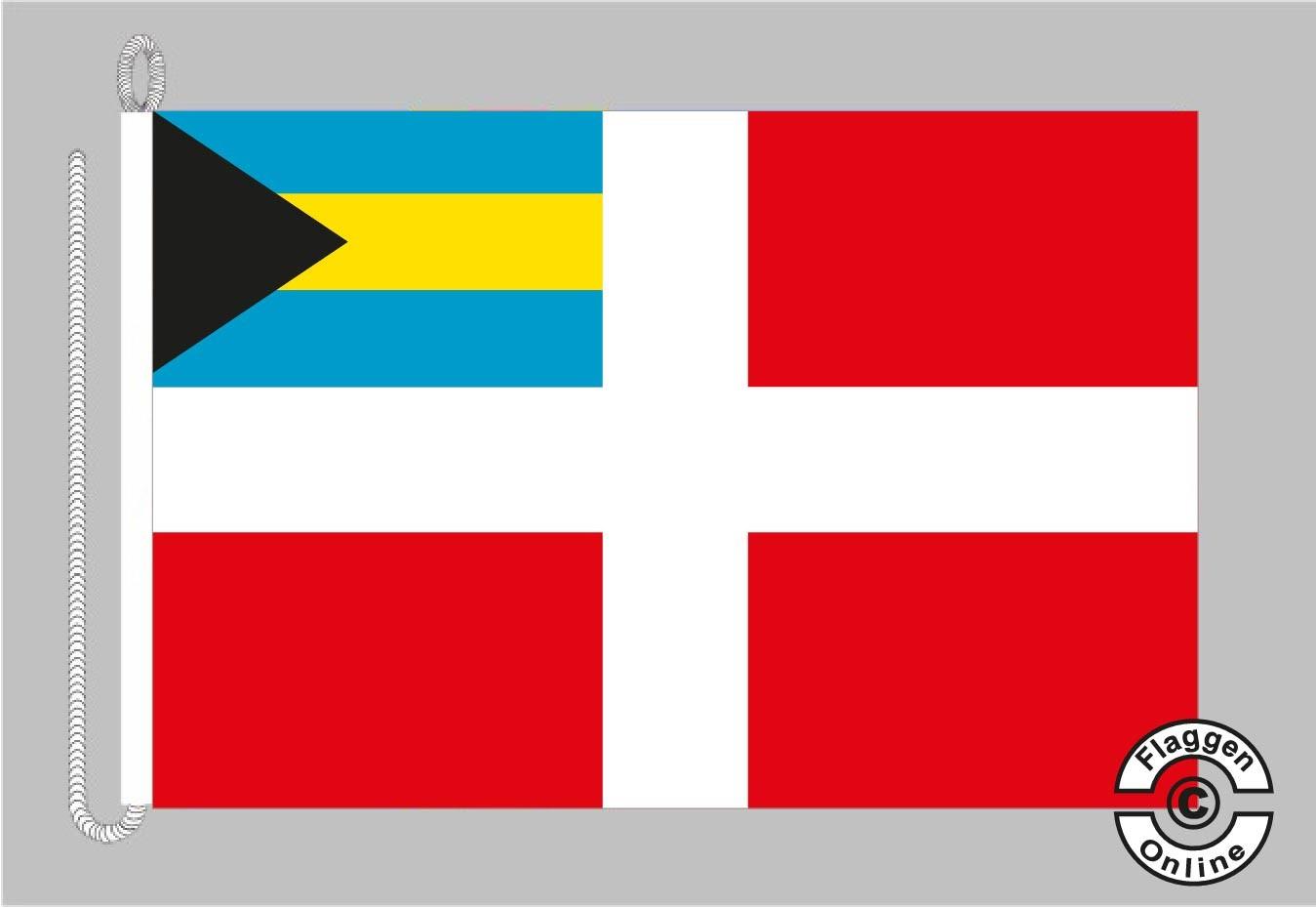 Bahamas Handelsflagge Bootsflagge