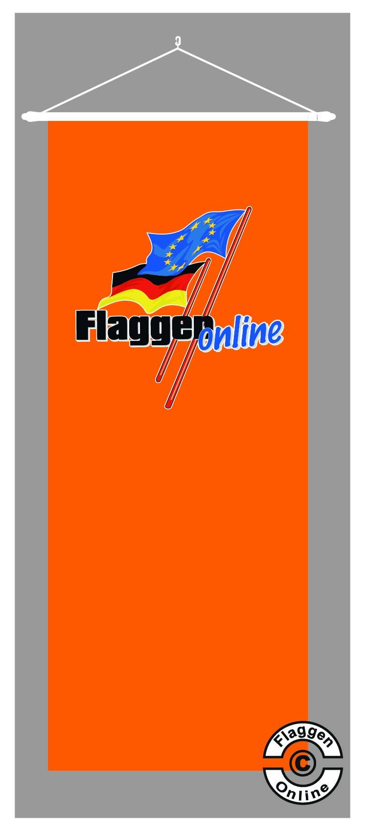 Bannerfahne im Individualdruck 150x500 cm