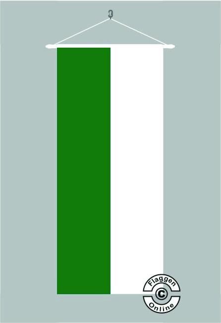 Grün Weiß Bannerfahne