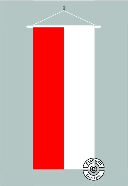 Rot Weiß Bannerfahne