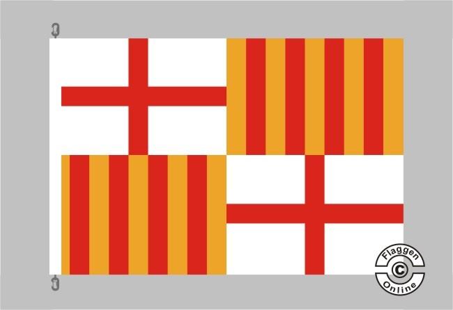 Barcelona Flagge / Fahne für extreme Windlasten