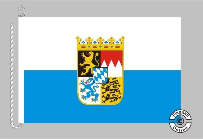 Bayern mit Wappen Bootsflagge