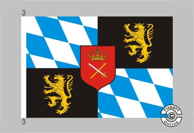 Bayern Königsbanner Flagge / Fahne für extreme Windlasten