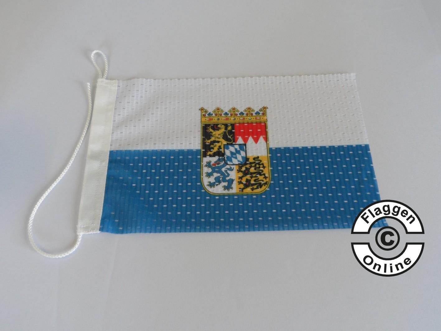 Bayern mit Wappen Flagge / Fahne für extreme Windlasten