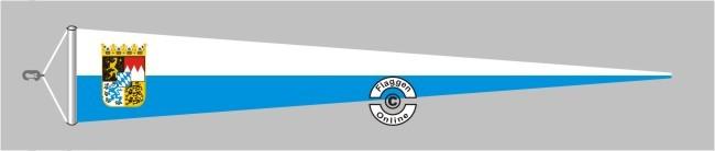 Bayern mit Wappen Langwimpel mit Querholz