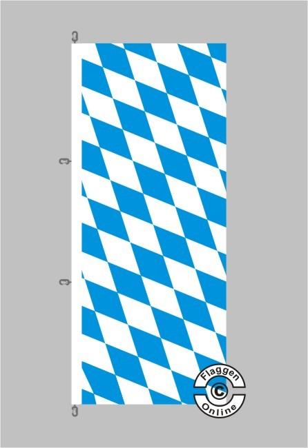 Bayern Raute Hochformat Flagge / Fahne für extreme Windlasten