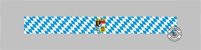 Bayern Raute mit Wappen Tischband