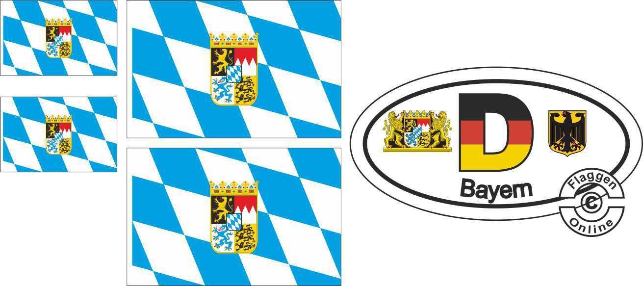 Bayern Raute Aufkleber