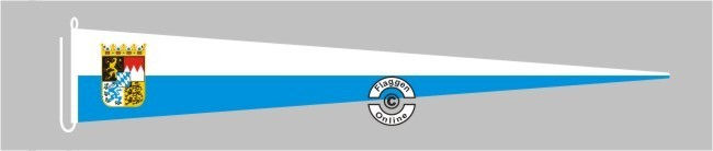 Bayern mit Wappen Langwimpel