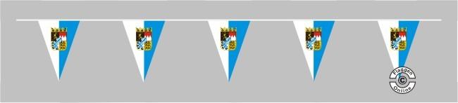 Bayern mit Wappen Wimpelkette