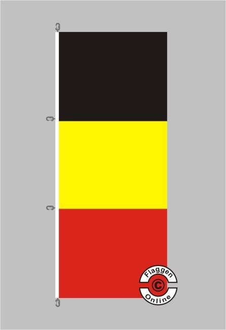 Belgien Hochformat Flagge