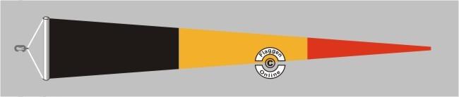Belgien Langwimpel mit Querholz