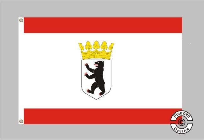 BERLIN mit Bär Deutsches Bundesland Berliner Flagge Flag Fahne 90 cm x 150 cm