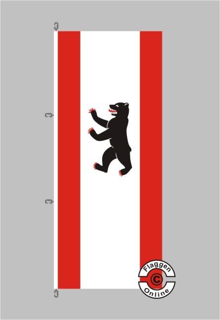 Berlin Hochformat Flagge / Fahne für extreme Windlasten