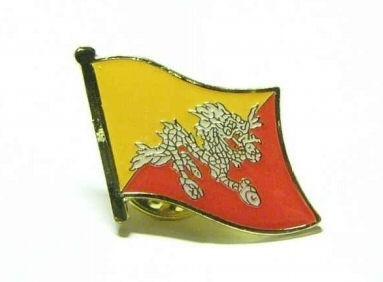 Bhutan Flaggenpin