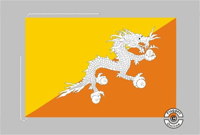 Bhutan Tischflagge