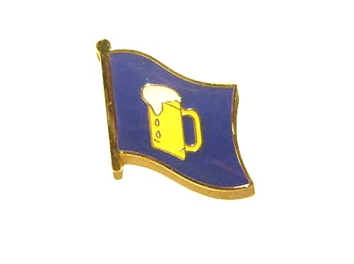 Bierkrug Flaggenpin