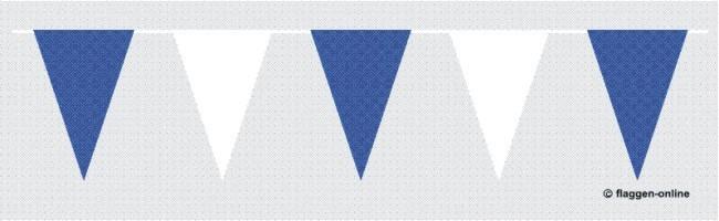 Wimpelkette Blau / Weiss