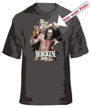 1. Wacken T-Shirt mit Eurem Foto oder Logo Border 1