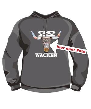 2. Wacken Hooded Shirt mit Eurem Foto oder Logo Border 2