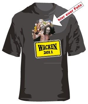 4. Wacken T-Shirt mit Eurem Foto oder Logo Border 4