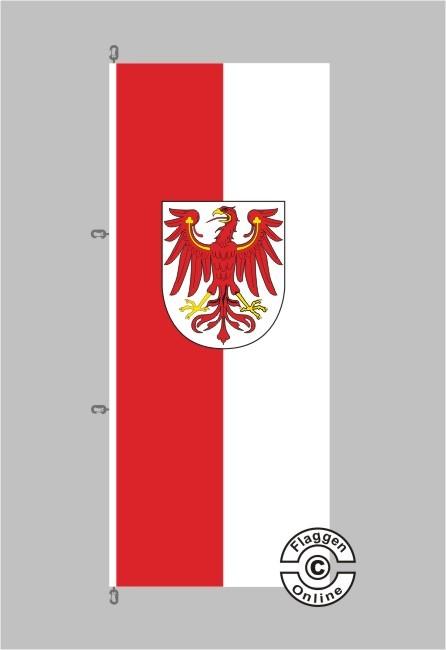 Brandenburg mit Wappen Flagge / Fahne für extreme Windlasten