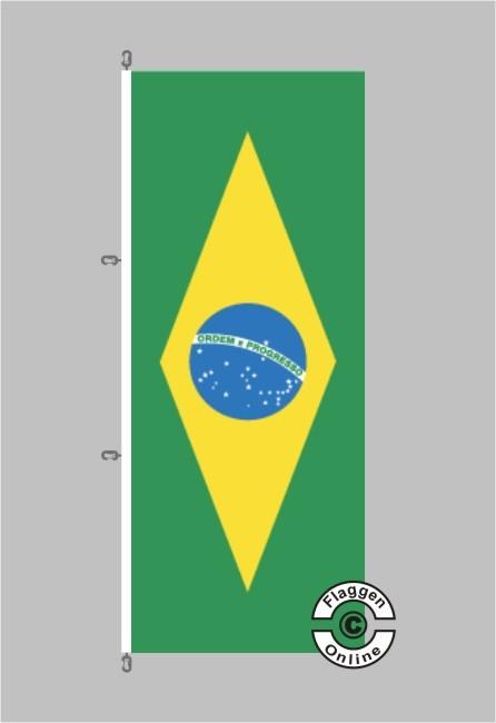 Brasilien Hochformat Flagge