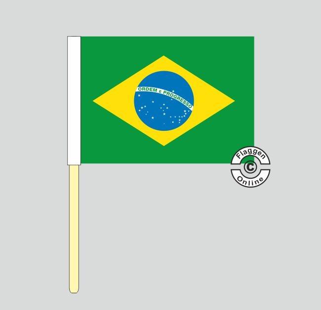 Brasilien Stockflagge