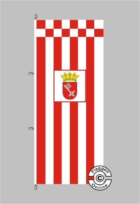 Bremen mit Wappen Flagge / Fahne für extreme Windlasten