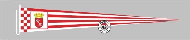 Bremen mit Wappen Langwimpel