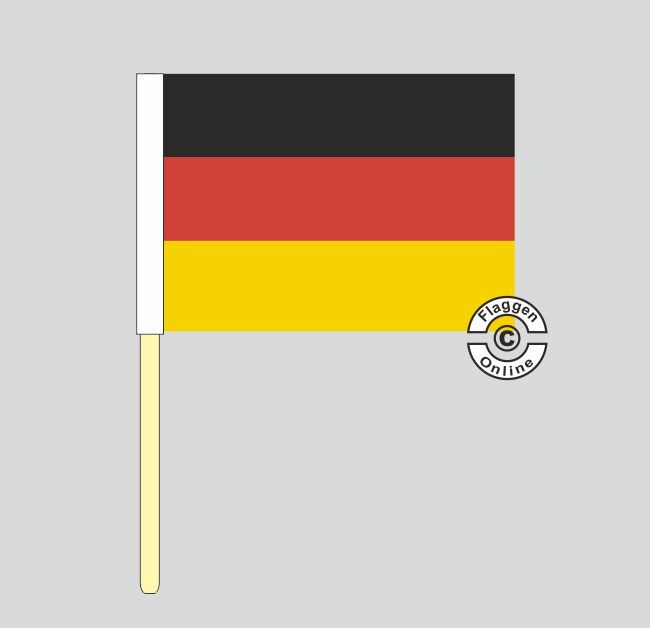 Deutschland Stockflagge