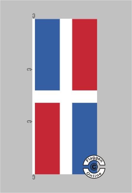 Dominikanische Republik Hochformat Flagge / Fahne für extreme Windlasten